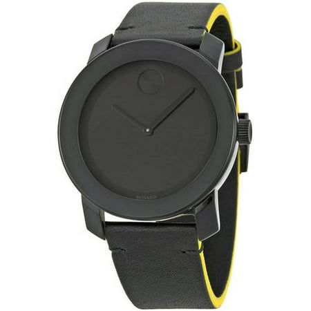 Movado Bold Leather Men's Watch, 3600352