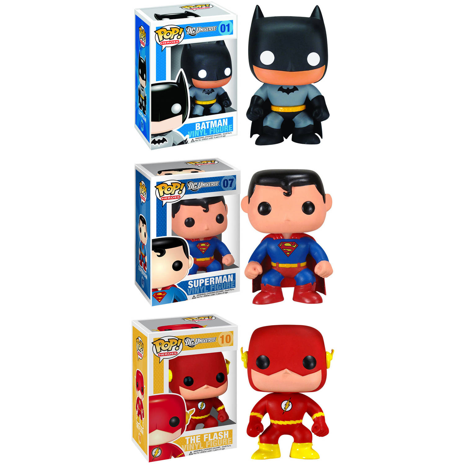 Funko DC Universe POP! Heroes Vinyl Collectors Set: Batman, Superman and Flash