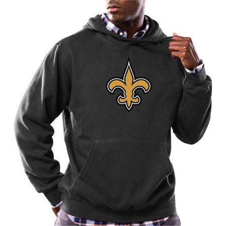 NFL Mens New Orleans Saints Tek Patch Fleece Hoodie by