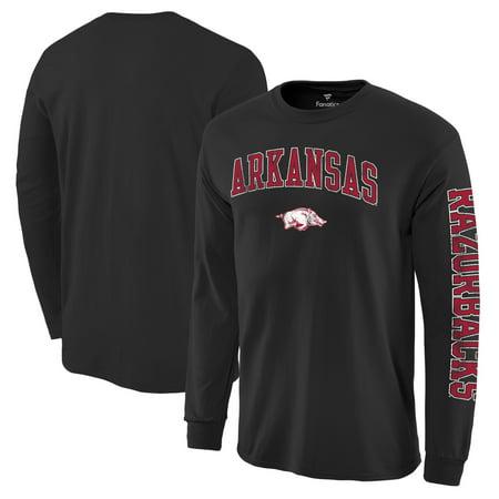 - Arkansas Razorbacks Fanatics Branded Distressed Arch Over Logo Long Sleeve Hit T-Shirt - Black