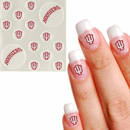 Indiana Hoosiers Waterless Fingernail & Face Tattoos - No Size