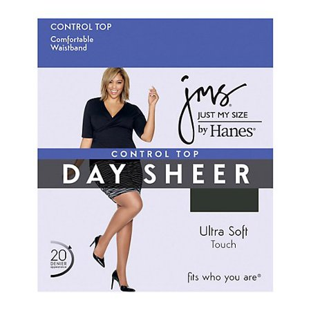 Control Top, Reinforced Toe Pantyhose 4-Pack (Just My Size Pantyhose Sheer Toe)