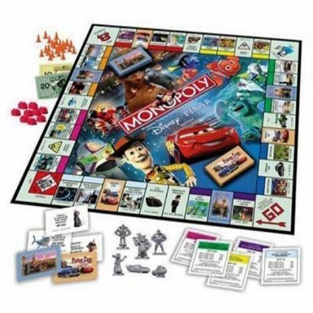 Monopoly - The Disney Pixar Edition (2007 Edition) Used 2007 Spx Game