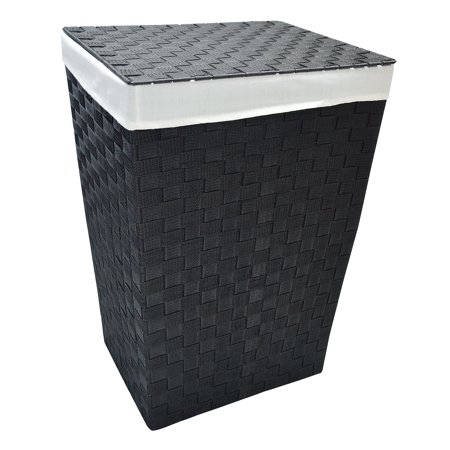 Mainstays Woven Strap Hamper with Lid and Liner ()