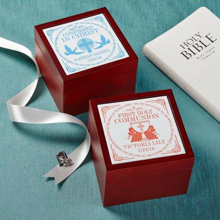 - Personalized Communion Memories Tile Keepsake Box