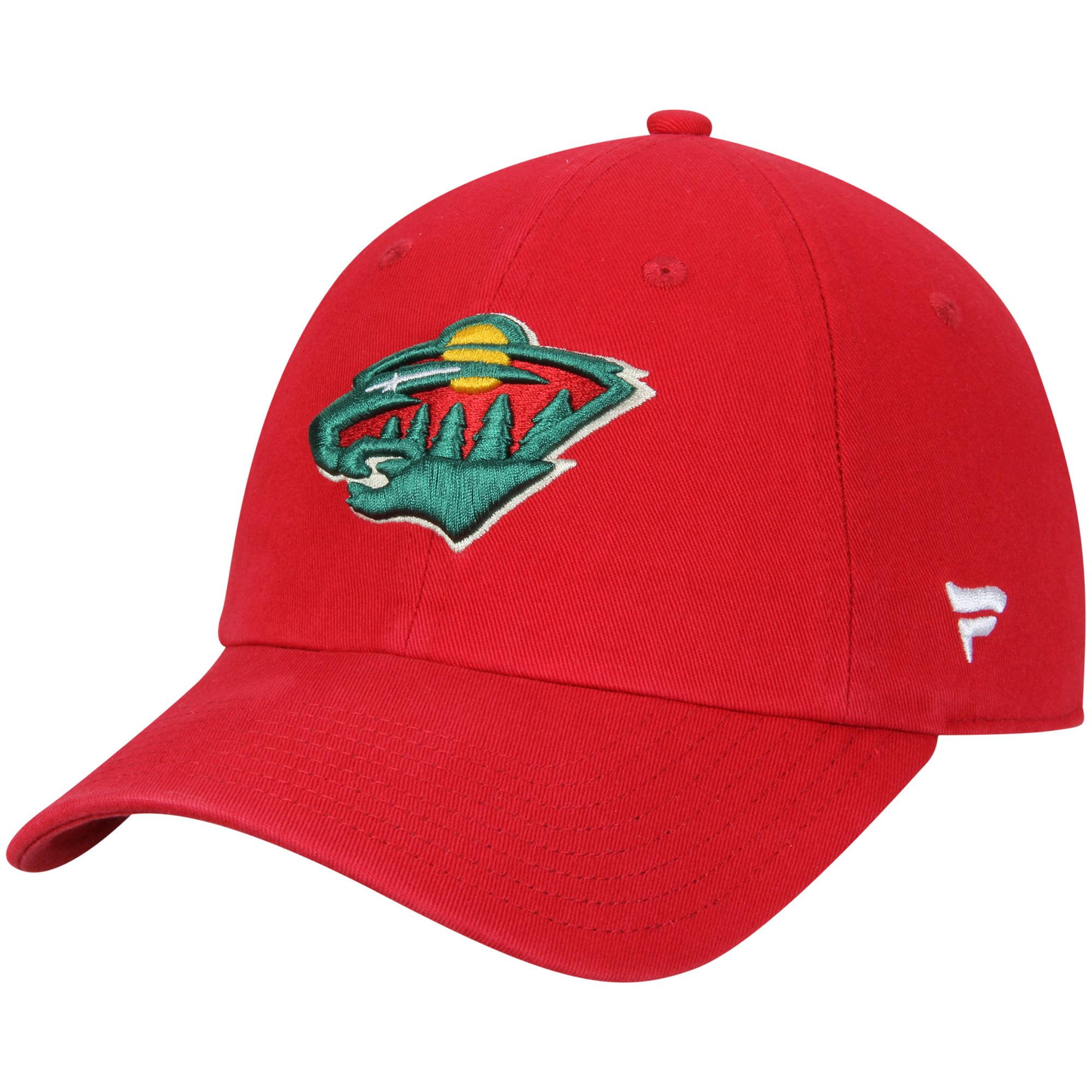 Minnesota Wild Fanatics Branded Youth Fundamental Adjustable Hat - Red - OSFA
