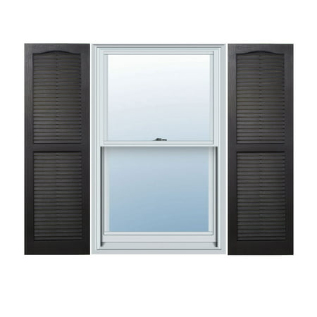 Alpha Shutters Exterior 14'' x 43'' Louvered Shutter (Set of 2)