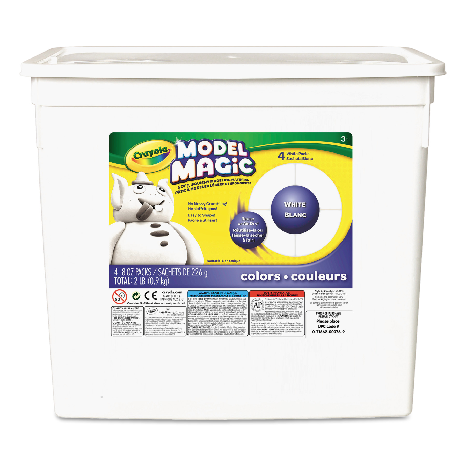Crayola Model Magic White Clay Alternative, 2 lbs.