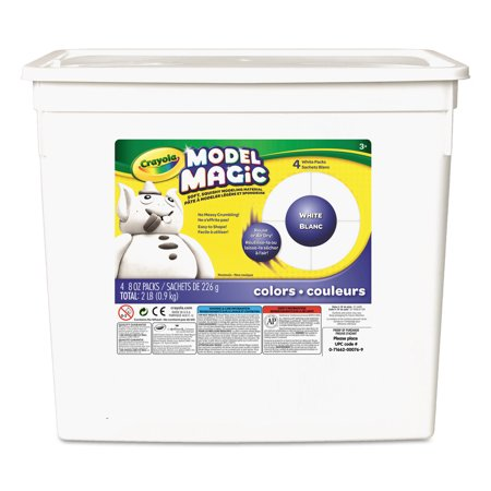 Hydroton Clay Pellets - Crayola, 2 Lb. Model Magic White Clay Alternative, 1 Each