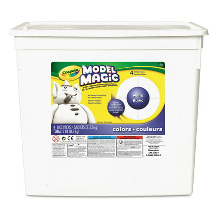 Carving Clay (Crayola, 2 Lb. Model Magic White Clay Alternative, 1 Each )
