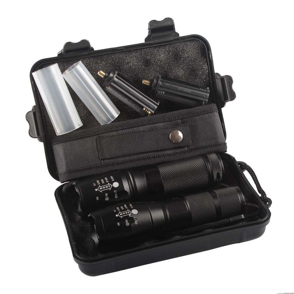 DZT19682pc X800 ShadowHawk Tactical Flashlight LED Military Grade G700 Torch Lamp