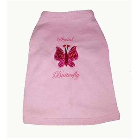 A Pets World 17011002-XS Dog T shirt--Sequin Butterfly - image 1 of 1