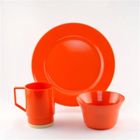 12 Piece Gift (Galleyware 1034-S 12 Solid Color Melamine Non-skid 12 Piece Dinnerware Gift)