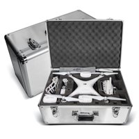 Ultimaxx Aluminum Carrying Case w/Handle For DJI Phantom 4, Phantom 4 Pro and Phantom 3 Quadcopter Drones, Fits Extra Accessories