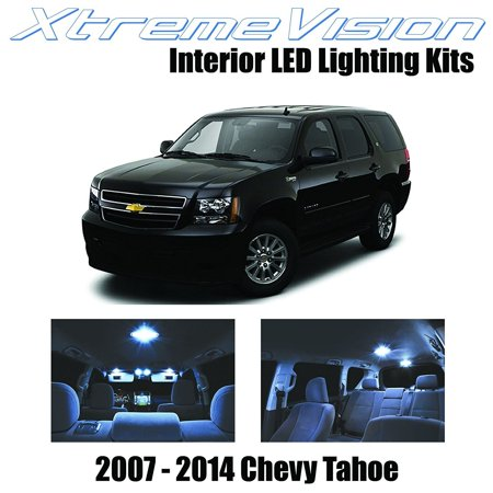 XtremeVision LED for Chevrolet Tahoe 2007-2014 (12 Pieces) Cool White Premium Interior LED Kit Package + Installation (Tahoe Tub Package)