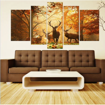 Moaere Handmade Deer Wall Art Oil Painting Giclee Landscape Canvas Prints for Home Decorations Unfamed - image 7 of 7