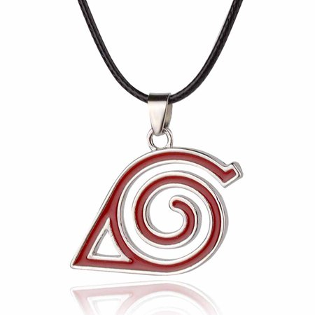 Fancyleo Anime Naruto The Metal Logo Necklace Sliver Metal Collares Cosplay Naruto Hokage -