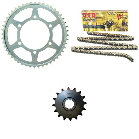 Did 530Vx Pro Street X Ring Vx Series Chain Gold Black  Sunstar Front   Rear Sprocket Kit For Street Yamaha Yzf R6s 2006 2009