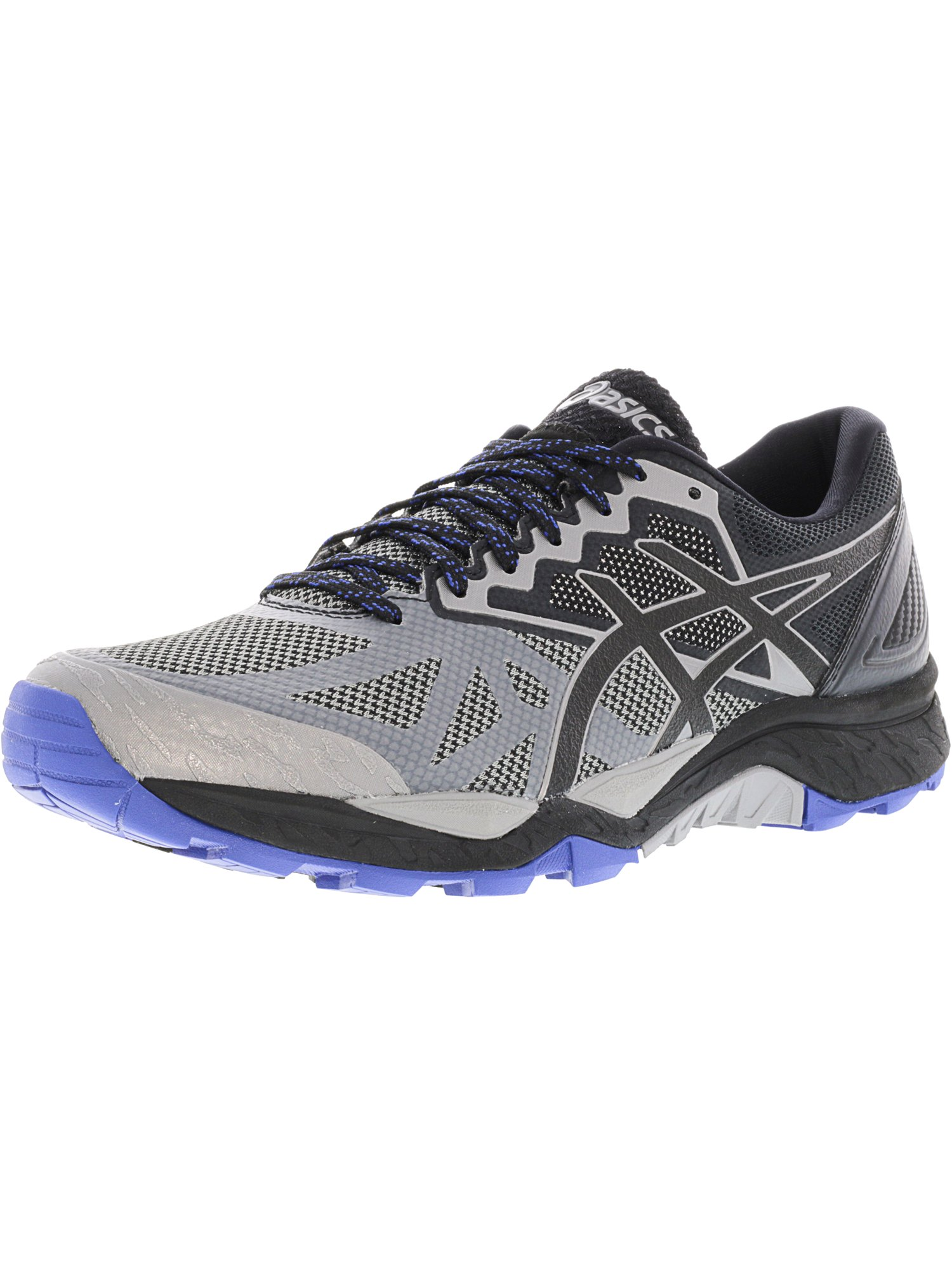 Asics Men's Gel-Fujitrabuco 6 Aluminum / Black Limoges Ankle-High Running Shoe - 8.5M
