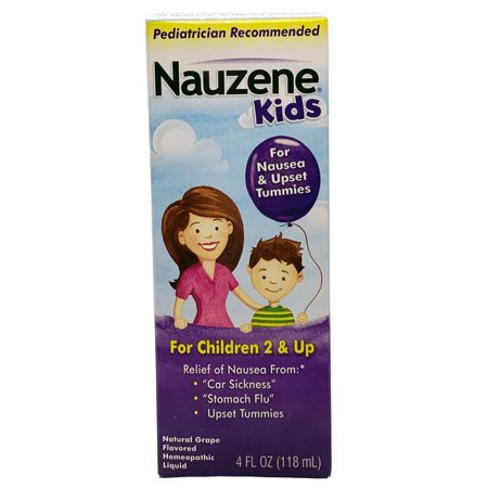 Nauzene Kids Liquid Nausea Remedy Natural Grape Flavor, 4 Fl. (Natural Remedies For Car Sickness In Toddlers)