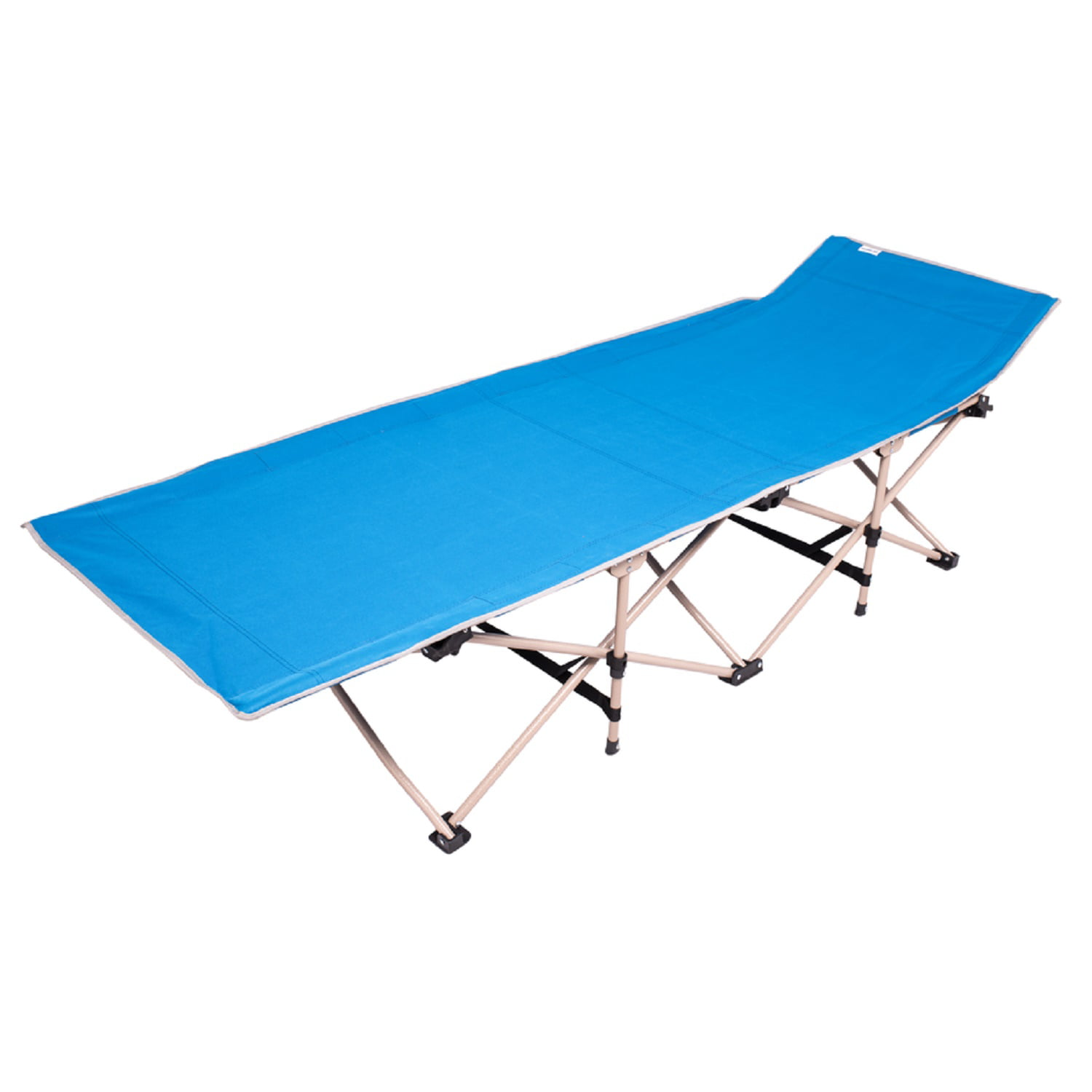 Osage River Folding Camp Cot with Carry Bag Blue by Osage River