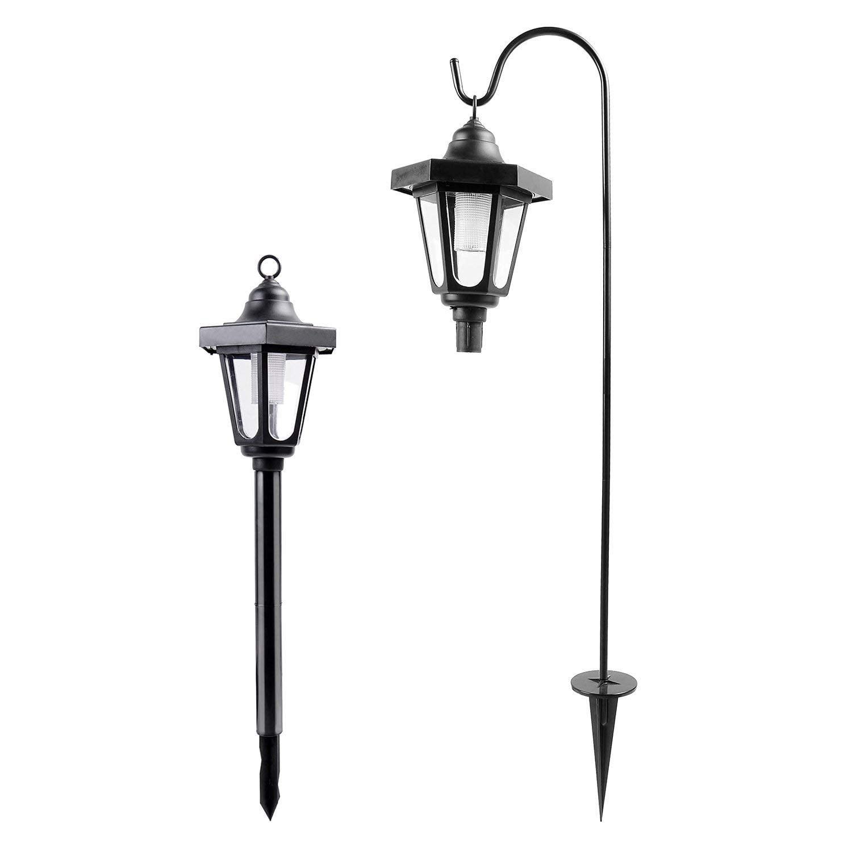 Ohuhu Solar Garden Light, Solar Powered LED Lantern Light ...