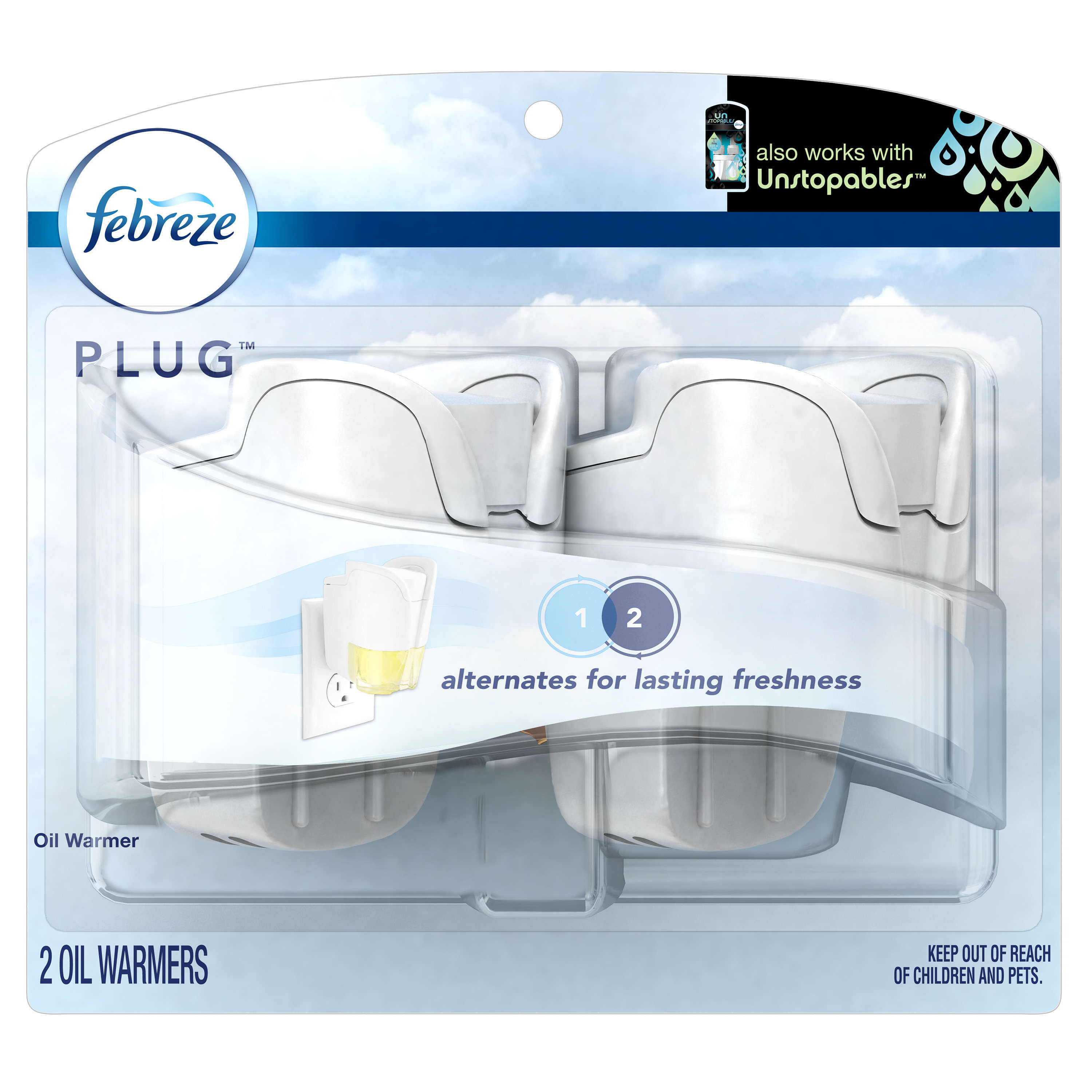 Febreze PLUG Air Freshener Warmers, 2 Count