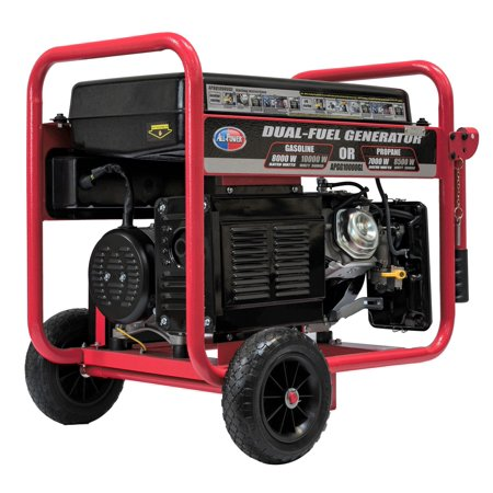 All Power 10000 Watt Dual Fuel Generator APGG10000GL, 10000W Gas/Propane Portable Generator with Electric Start, EPA