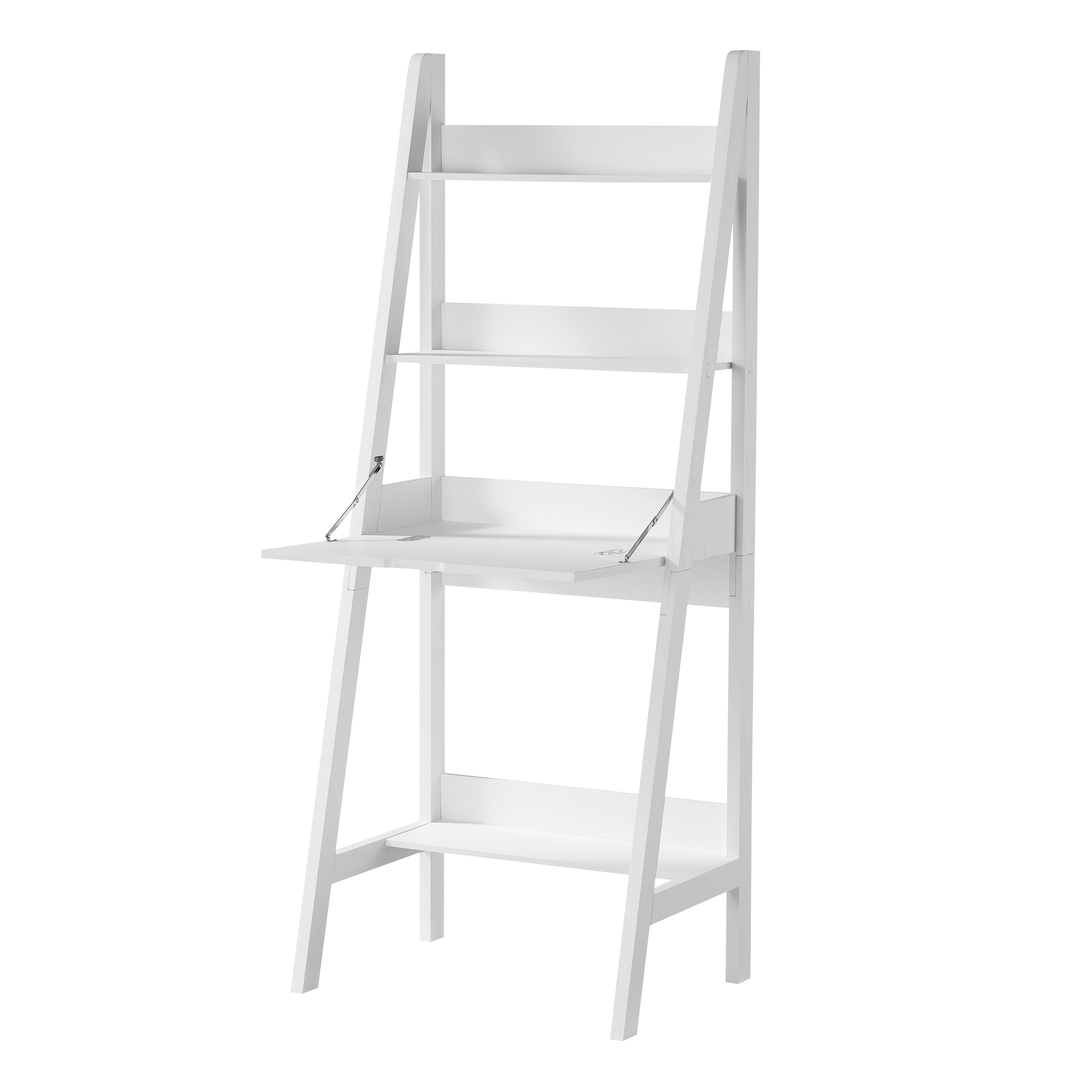 Mainstays Contemporary 3 Shelf Ladder Desk White Finish Walmart Com Walmart Com