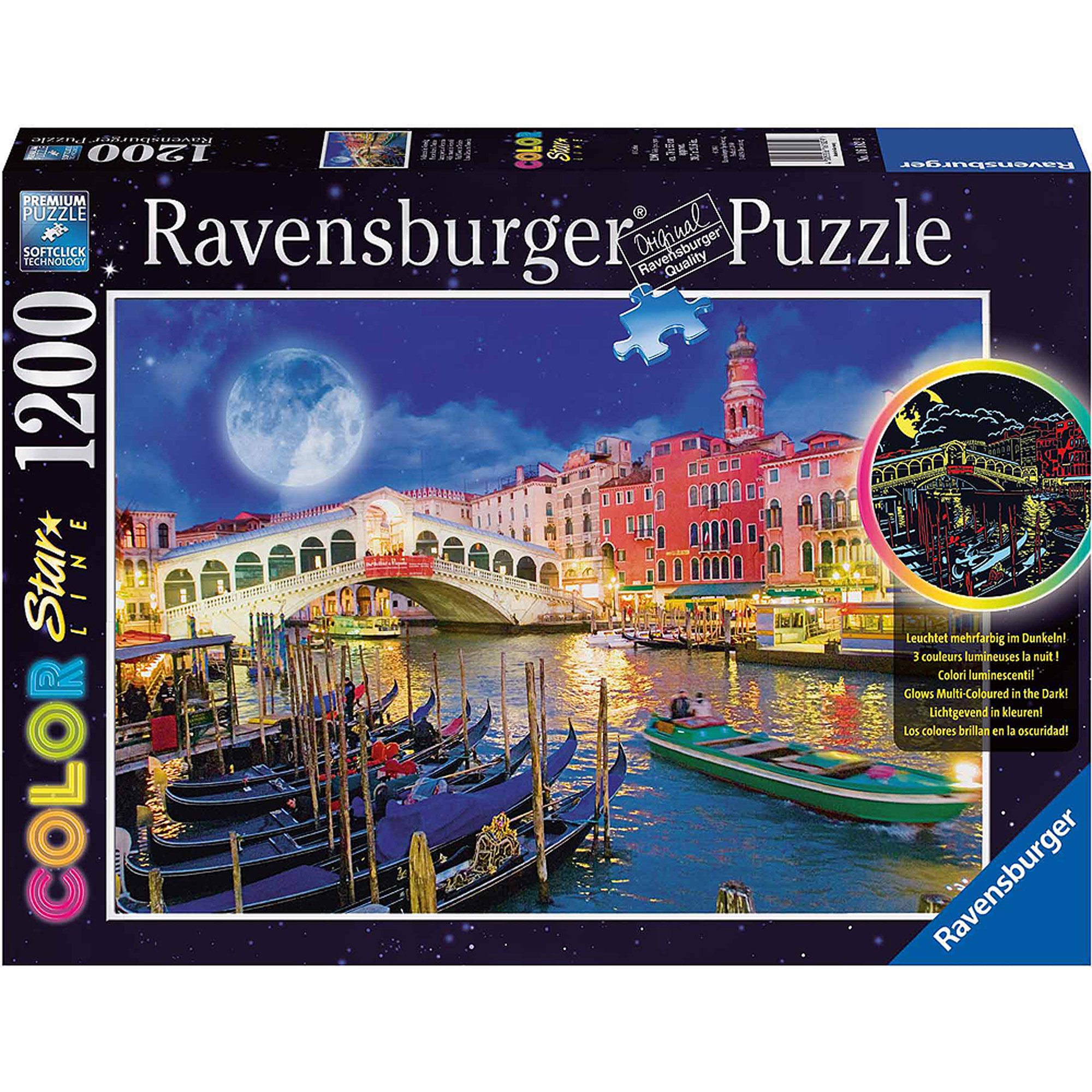 Full Moon in Venice 1200 Piece Puzzle