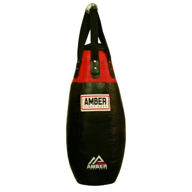 Amber Fight Gear Tear Drop Heavy Bag Punching Bag Heavy Bag Kick Boxing MMA Muay Thai Heavy Bag Training Heavy Bag with Heavy Bag Chain with Swivel UNFILLED 60lb