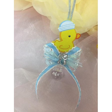 CHARMED Yellow Ducky Pacifier Necklaces Baby Shower Games Favors Prizes Blue Baby Boy's Cute and Adorable - Baby Shower Prizes Ideas