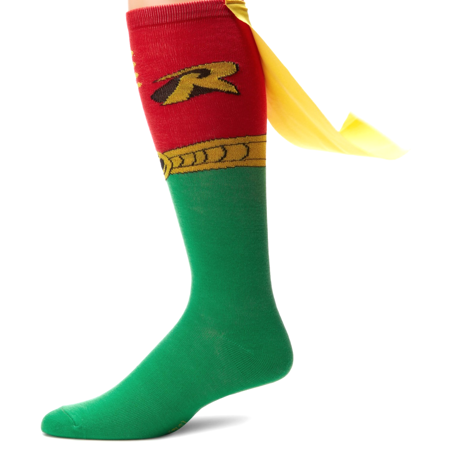 Batman Uniform (Robin Knee High Caped Socks (Pair) Uniform Logo Costume Adult Cape)