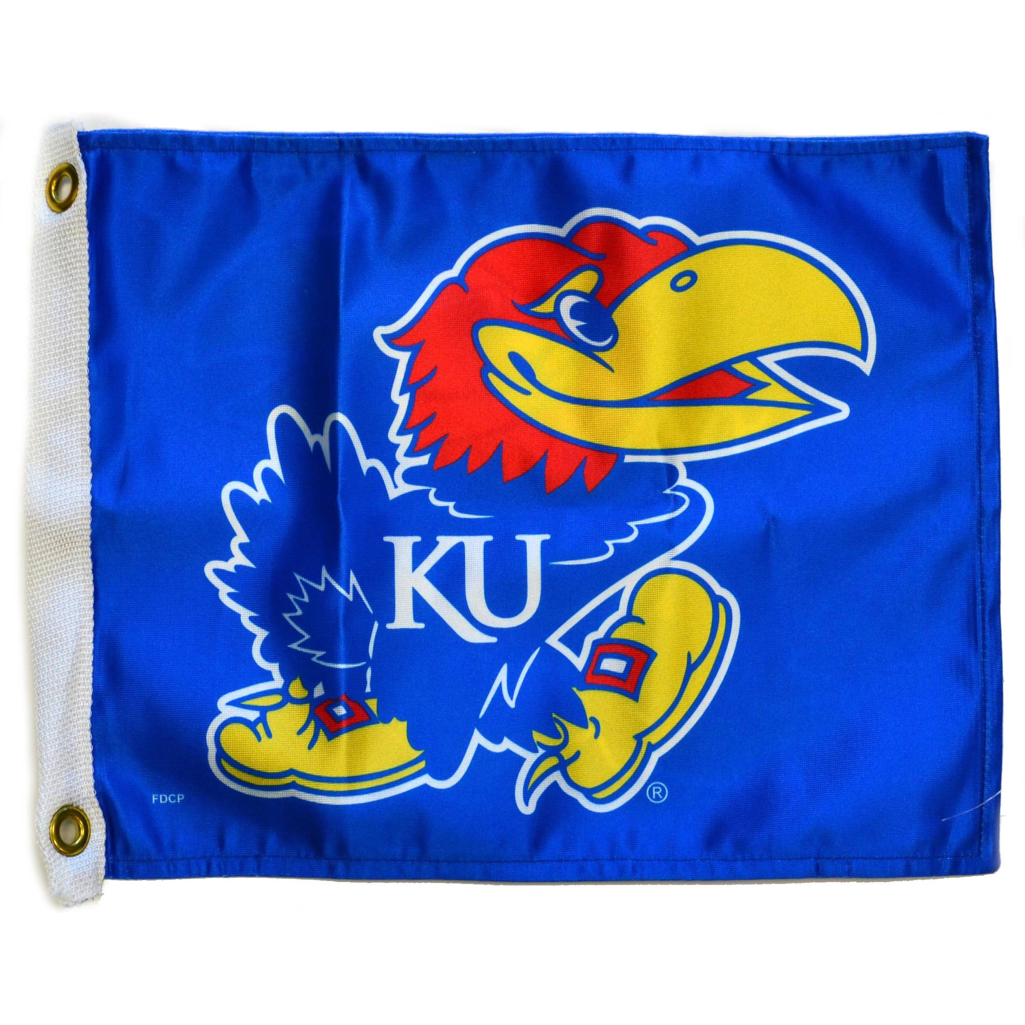 "Flagpole To Go 14"" x 15"" Kansas Jayhawks Golf Cart Flag"