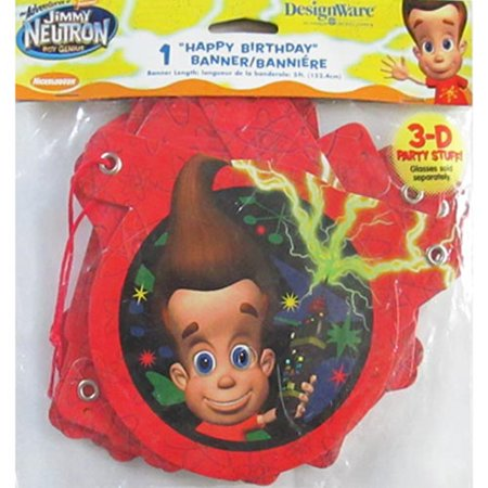 Jimmy Neutron Birthday Banner (5ft) - Jimmy Neutron Party