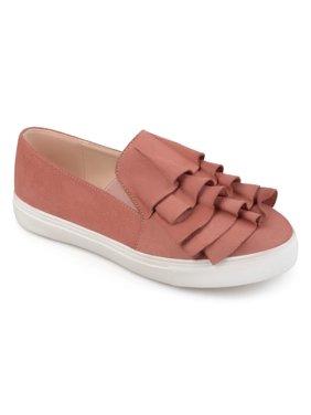 ff11fee7c Product Image Women s Faux Suede Slip-on Ruffle Sneakers