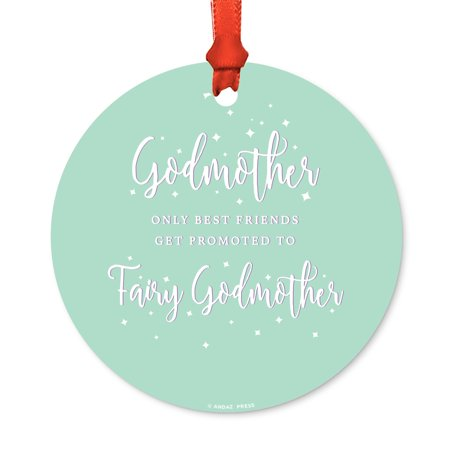 Round Metal Christmas Ornament, My Baptism 2017, Girl, Includes Ribbon and Gift Bag, Present Gift Ideas for $<!---->