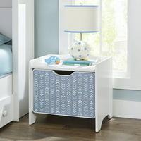 Better Homes & Gardens Cartwheel Nightstand, White, with Chevron Pattern