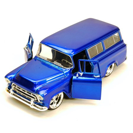 Kustom Kit - 1957 Chevy Suburban, Blue - Jada Toys Bigtime Kustoms 50267 - 1/24 scale Diecast Model Toy Car (Brand New, but NOT IN BOX)