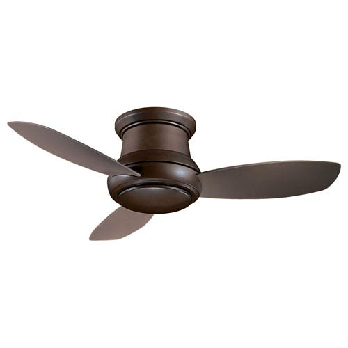 Concept II Oil Rubbed Bronze 52-Inch Flush LED Ceiling Fan by