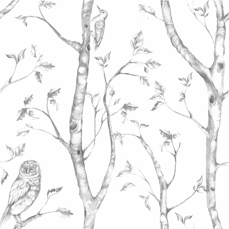 NuWallpaper Grey Woods Peel & Stick Wallpaper
