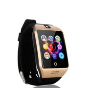 Gold Bluetooth Smart Wrist Watch Phone mate for Android Samsung HTC LG Touch Screen Blue Tooth SmartWatch with Camera for Adults for Kids (Supports [does not include] SIM+MEMORY CARD) Q18