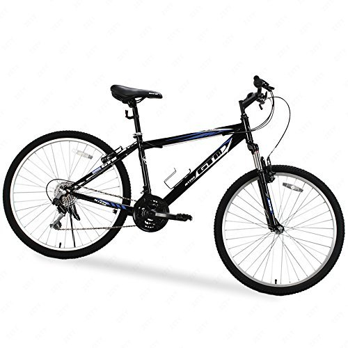 "26"" Mountain Bike 18 Speed Bicycle Shimano Hybrid GTM Black Blue School Sports by Uenjoy"