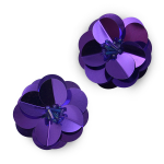 Expo Int'l Cluster Flower Sequin Applique Pack of 2 ()