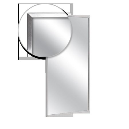 AJW U711-1824 Channel Frame Mirror, Plate Glass Surface - 18 W X 24 H In. Glass Mirror Plate