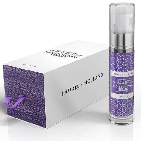 Anti Aging Tri Hyaluronic Acid Serum - Moisturizer Face Rejuvenating Cream for Hydrated, Younger-Looking Skin with Vitamin C, Vitamin A, and Aloe | UltraPure Best Ingredients, Cruelty Free