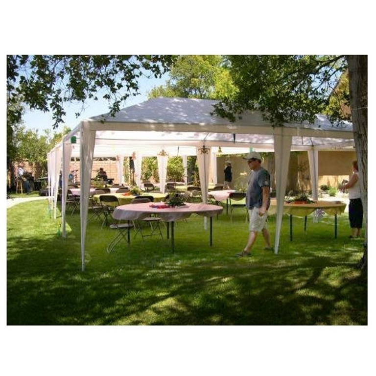 Palm Springs Outdoor 10 x 20 Wedding Party Tent Gazebo Canopy with Sidewalls Image 3 of  sc 1 st  Walmart.com & Palm Springs Outdoor 10 x 20 Wedding Party Tent Gazebo Canopy with ...
