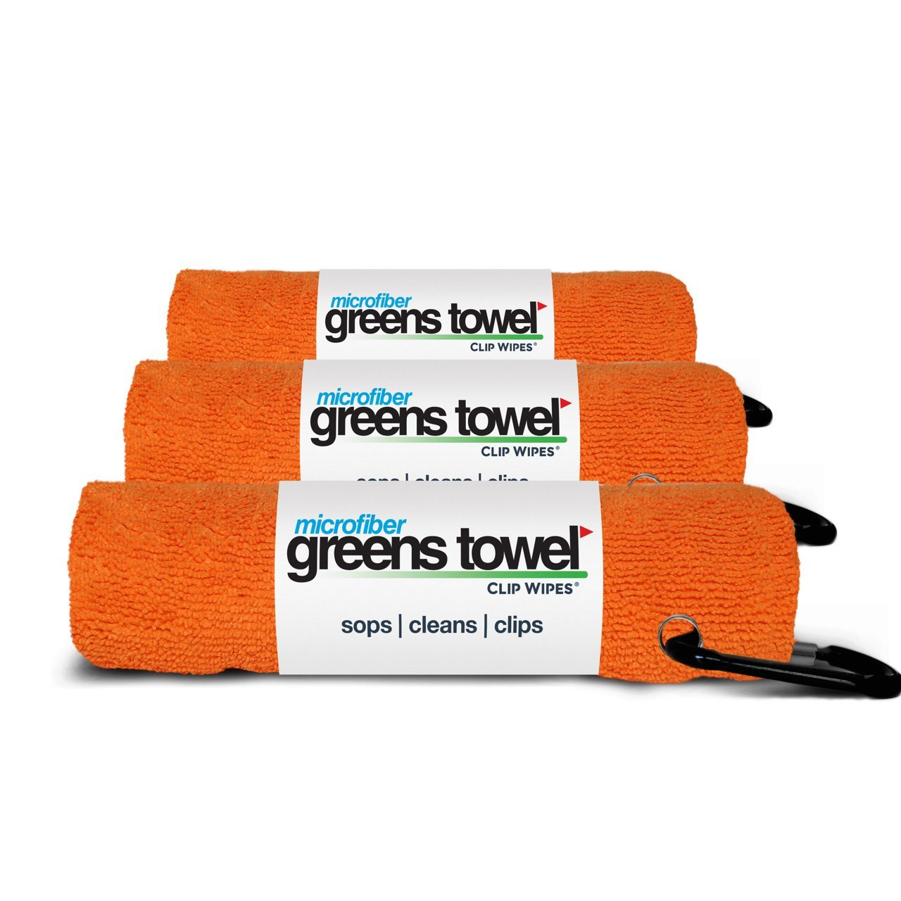 Microfiber Greens Towel Jet Black 3 Pack