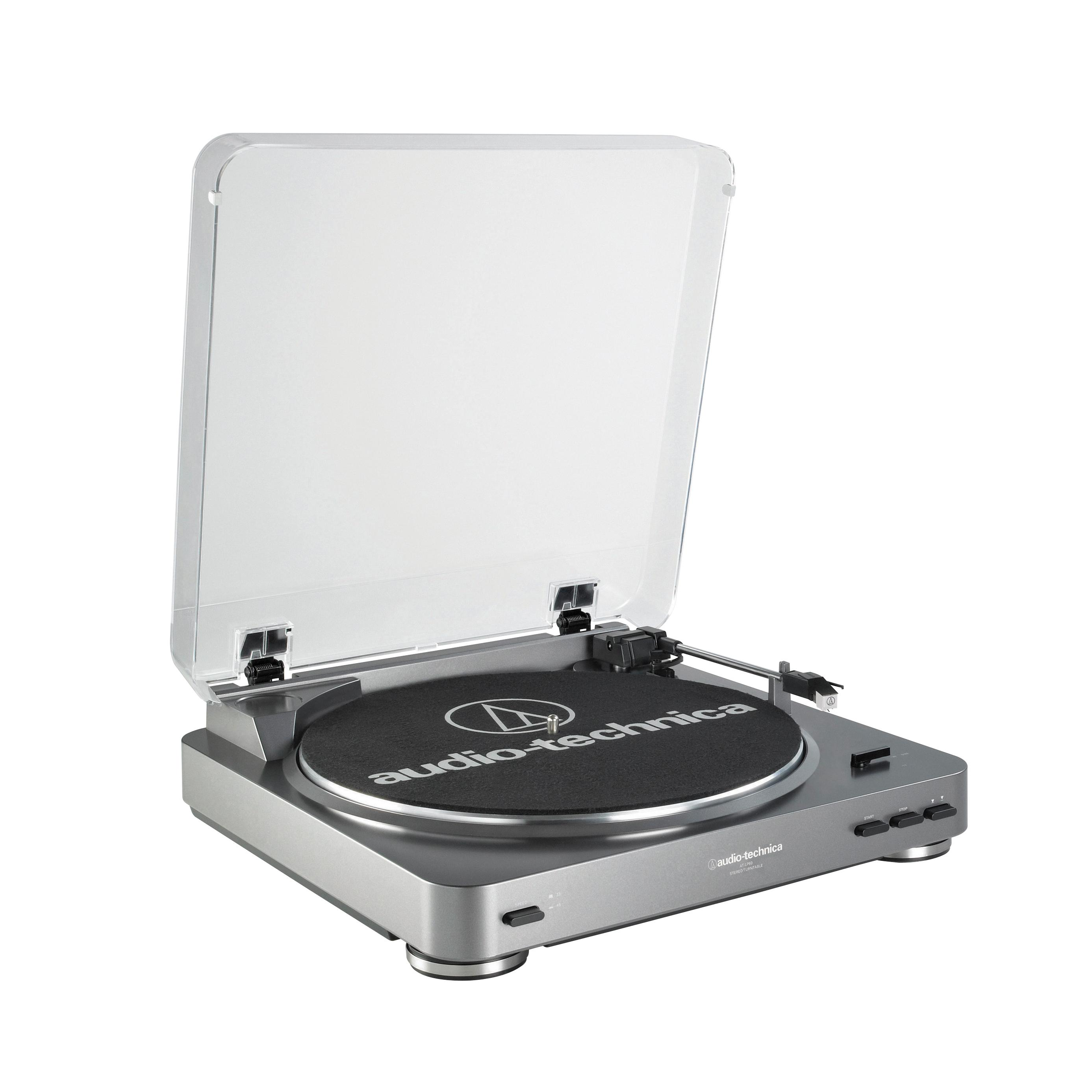 Audio Technica AT-LP60 Fully Automatic Belt Driven Turntable-Black (Certified Refurbished) by Audio-Technica