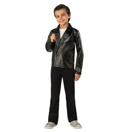 Boys T-Bird Jacket Grease Halloween Costume](Kids Greaser Costume)